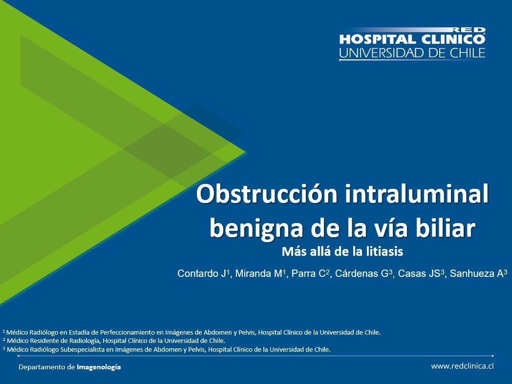 Obstrucción intraluminal benigna de la vía biliar: más allá de la litiasis