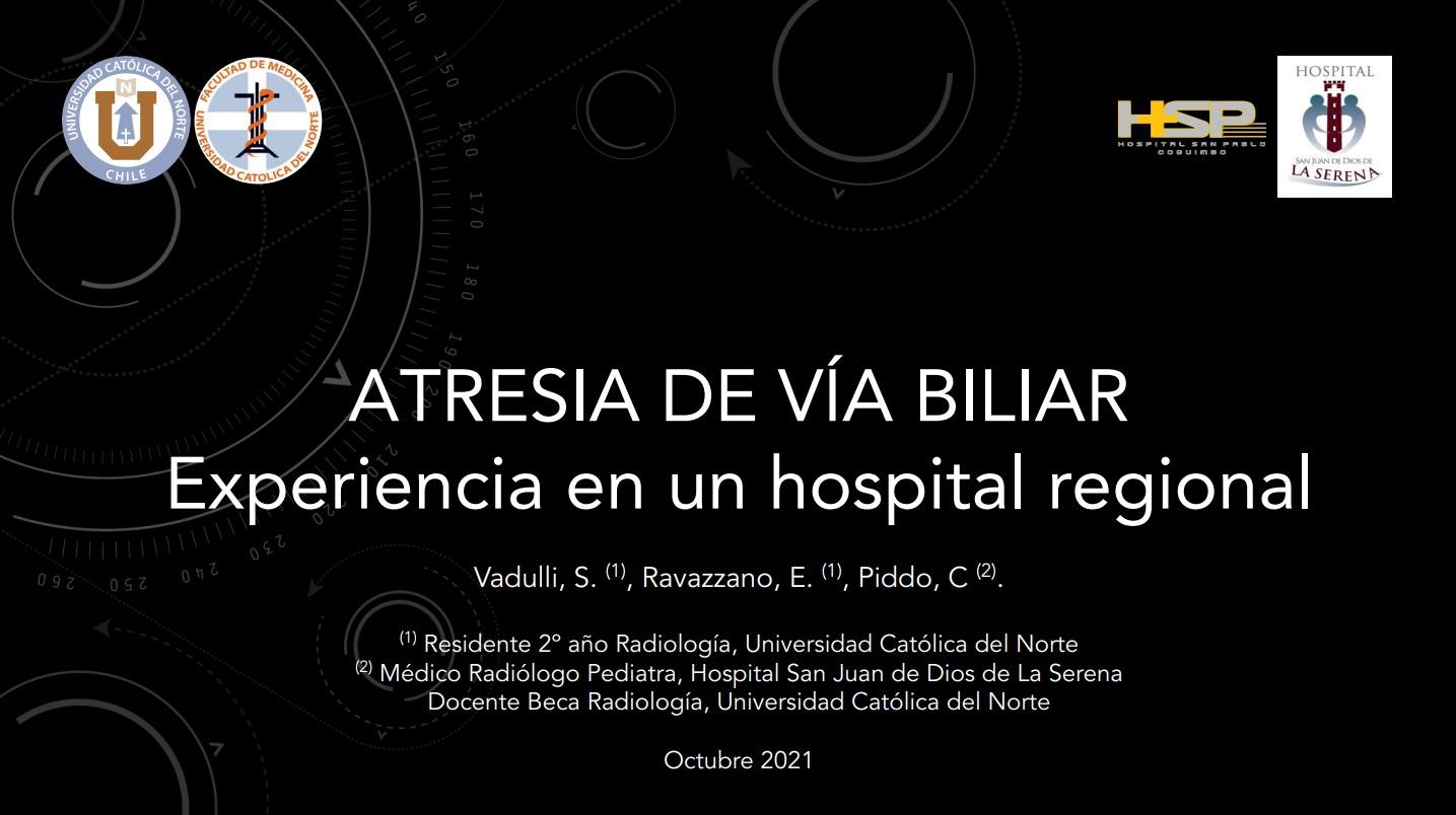 ATRESIA DE VÍA BILIAR: Experiencia en un hospital regional